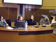 Massimo Cialente, Antonello Caporale, Massimo Prosperococco . L'Aquila, 18 dicembre 2011