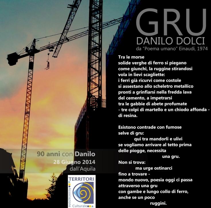 "GRU di DANILO DOLCI - da ""Poema umano"" Einaudi, 1974"